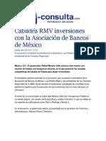 28-04-2015 E-consulta.com - Cabildea RMV Inversiones Con La Asociación de Bancos de México