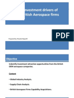 Investment Drivers of the British Aerospace Industry