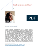 Prada Alcoreza Raúl - Apuntes Sobre La Episteme Boliviana