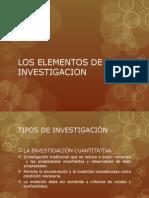 los elementos de la investigacion