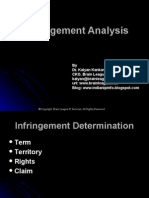 Presentation on Infringement Analysis