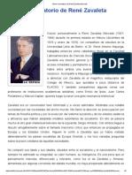 Breve Recordatorio de René Zavaleta Mercado