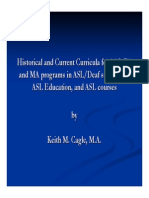 historical current curricula