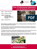 The White Hart Else Lunch - Let's Do Business Pre Lunch - 22 May Uttoxeter