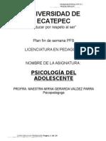 Antología Psicología Del Adolescente