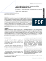 Positividad anticuerpo antitransglutaminasa tisular humana en adultos  histológicamente compatibles con enfermedad celíaca