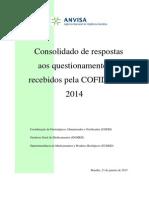 Consolidado respostas 2014 COFID