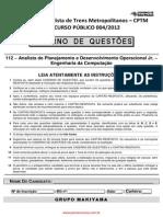 Analista de Planejamento e Desenvolvimento Operacional Jr. - Engenharia da Computaá∆o