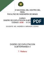 TIPO DE RELLENOS EN MINERIA