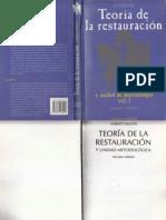 TEORIA DEL RESTAURO VOL 1 - UMBERTO BALDINI.pdf