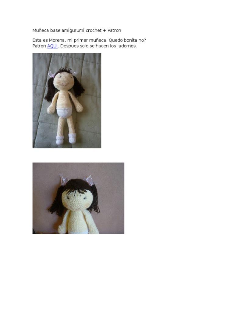 Muñeca Base Amigurumi Crochet