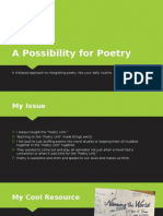 a possibility for poetry