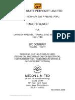 Tender for Gujarat Pipe Line