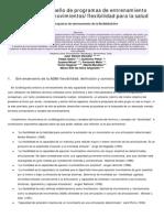 Criterios Para El Diseño de Programas de Entrenamiento de La Amplitud de Movimientos - Flexibilidad Para La Salud