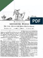 Erneuerte Vaterländische Blätter Für Den Österreichischen Kaiserstaat Nummer 1
