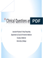 Clinical Questions and PICO 2012