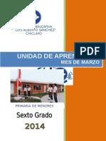 1-Unidad Marzo 2014- SEXTO Grado Primaria
