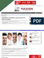 29 04 2015 Candidatos de Mérida ¿quién ganaría en redes sociales?