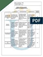 Rúbrica de Evaluación - Trabajo Colaborativo 2 2014I