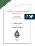 Aurora-Egido - La búsqueda de la inmortalidad en las obras de Baltasar Gracián - Discurso RAE 2014.pdf