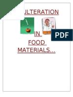 Food Adulteration