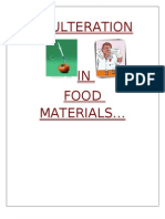 Food Adulteration