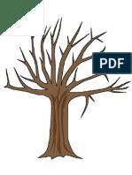 Copac Primavara Sabloane
