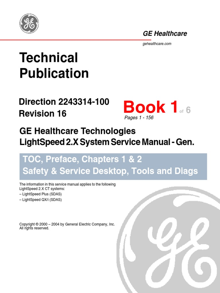 lightspeed 2 x system service manual switch x ray rh scribd com ge lightspeed user manual ge lightspeed installation manual