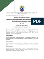Manual Venezolano de Dispositivos Uniformes Para El Control Del Transito Mvduct 2011