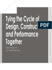 Tying the Cycle of Design, Construction and Performance Together