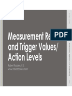 Measurement Results and What They Mean, Typical Ranges, And Trigger Values or Action Levels