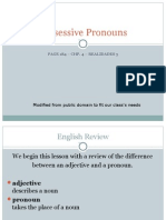 04/21-04/27 Possessive Pronouns