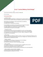 24 Curso Master Cocina y Food Design ESP