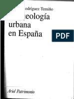 RODRÍGUEZ TEMIÑO, I. 2004. Arqueologia urbana en España