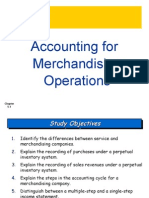 Accounting for Merchandising Operations