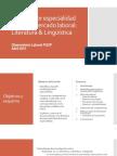 Informe Por Especialidad Sobre El Mercado Laboral