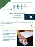 Manage Customer Deduction