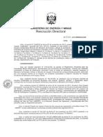 Resolución Directorial del Ministerio de Energía y Minas aprobando el segundo EIA de Tía María
