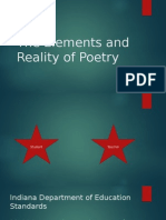 The Reality and Elements of Poetry