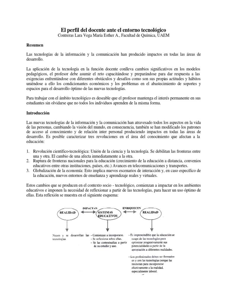 El perfil del docente ante el entorno tecnológico