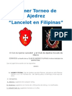 primer torneo de ajedrez  ¨Lancelot en Filipinas ¨
