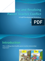 preventing and resolving parent teacher conflict