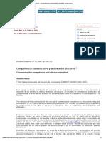 Pilleux (2001), Competencia Comunicativa