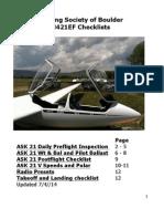 ASK 21 Preflight manual