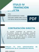 CAPITULO IV Contratacion Directa