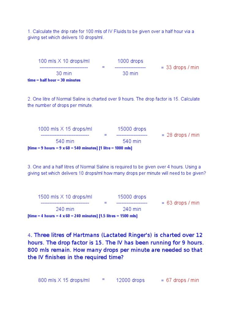 Drug calculation review litre saline medicine nvjuhfo Gallery