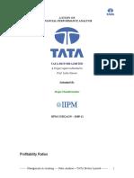 Tata Motors- Ratio Analysis