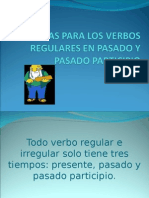 REGLAS PARA LOS VERBOS REGULARES EN PASADO Y.ppt
