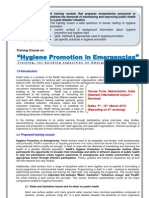 Course Detail of Hygiene Promotion in Emergencies