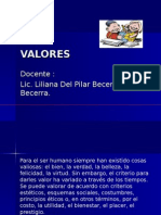 Tema # 2 Valores